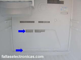 refrigerador lleno de hielo