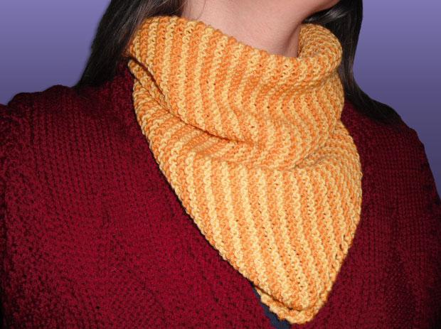 Sun Today: Garter Stitch Neck-warmer - Free Knitting Pattern