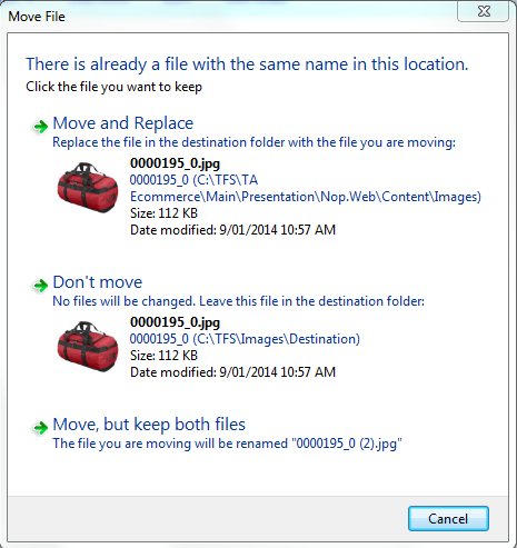 vbs script to replace a file