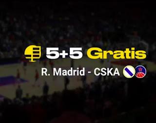bwin gana por jugar euroliga Real Madrid vs CSKA 18-3-21
