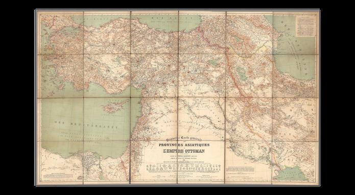 Heinrich Kiepert 1884 Osmanlı Haritası ve Dana Adası