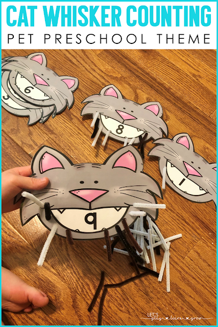 Cat Whisker Counting Preschool Pets Counting Activity