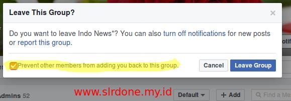 Ini Dia Cara Keluar Dari Group Spam Facebook Yang Tidak Dikenal