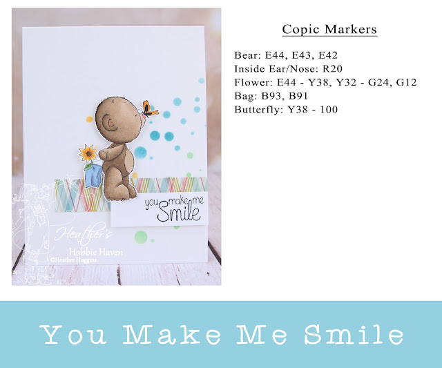 Heather's Hobbie Haven - Color Wednesday -You Make Me Smile - Teddy Best Friends