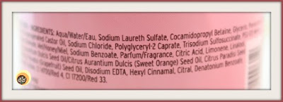 Ingredients of The Body Shop Pink  Grapefruit Shower Gel, NBAM blog