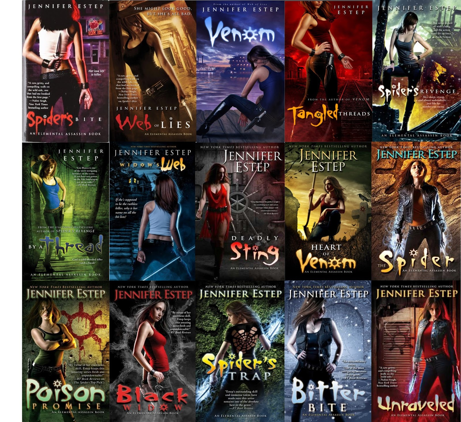 Elemental Assassin Series (#115) By Jennifer Estep Published Between  20102016 Summary On Goodreads