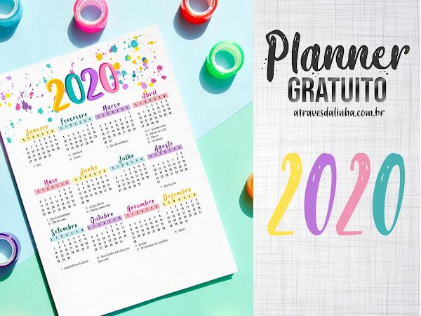 Planner 2020 #2: Calendário gratuito para download