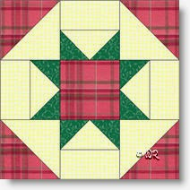 """Princess Charlotte"" quilt block © W. Russell, patchworksquare.com"