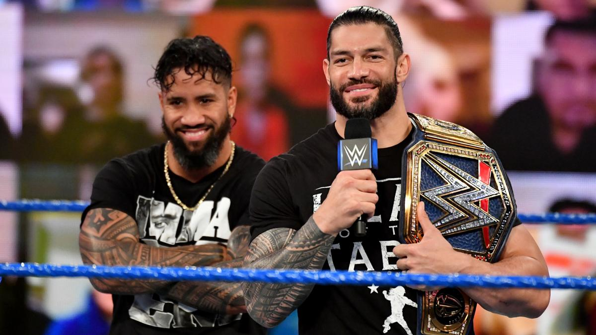 Jey Uso and Roman Reigns on WWE SmackDown