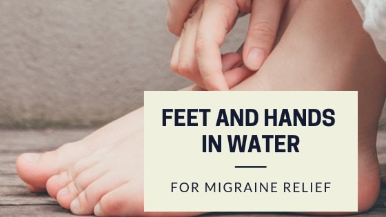 migraine relief by hands and feet in water