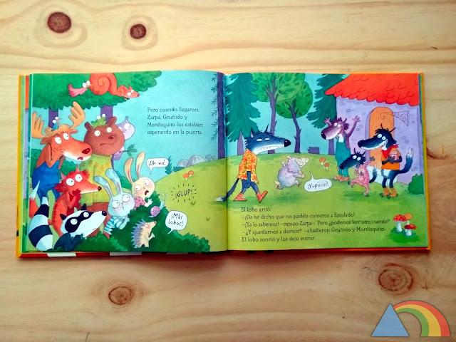 Interior del libro Los lobos que vinieron a cenar