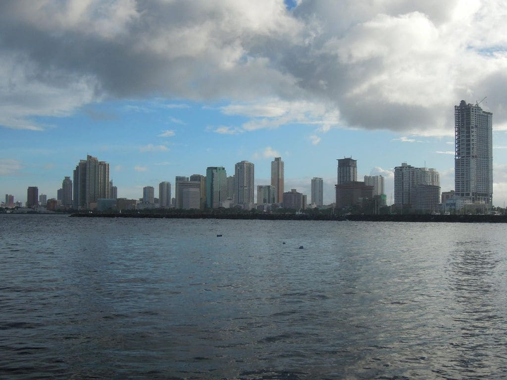 A view of the Manila skyline on the way to Corregidor Island
