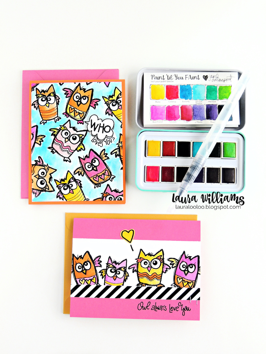 Make handmade cards with owls that are a real HOOT. Witty sentiments and these funny hand drawn owls from Impression Obsession are just adorable for handmade cards and paper crafts. #impressionobsession #handmadecards #clearstamps