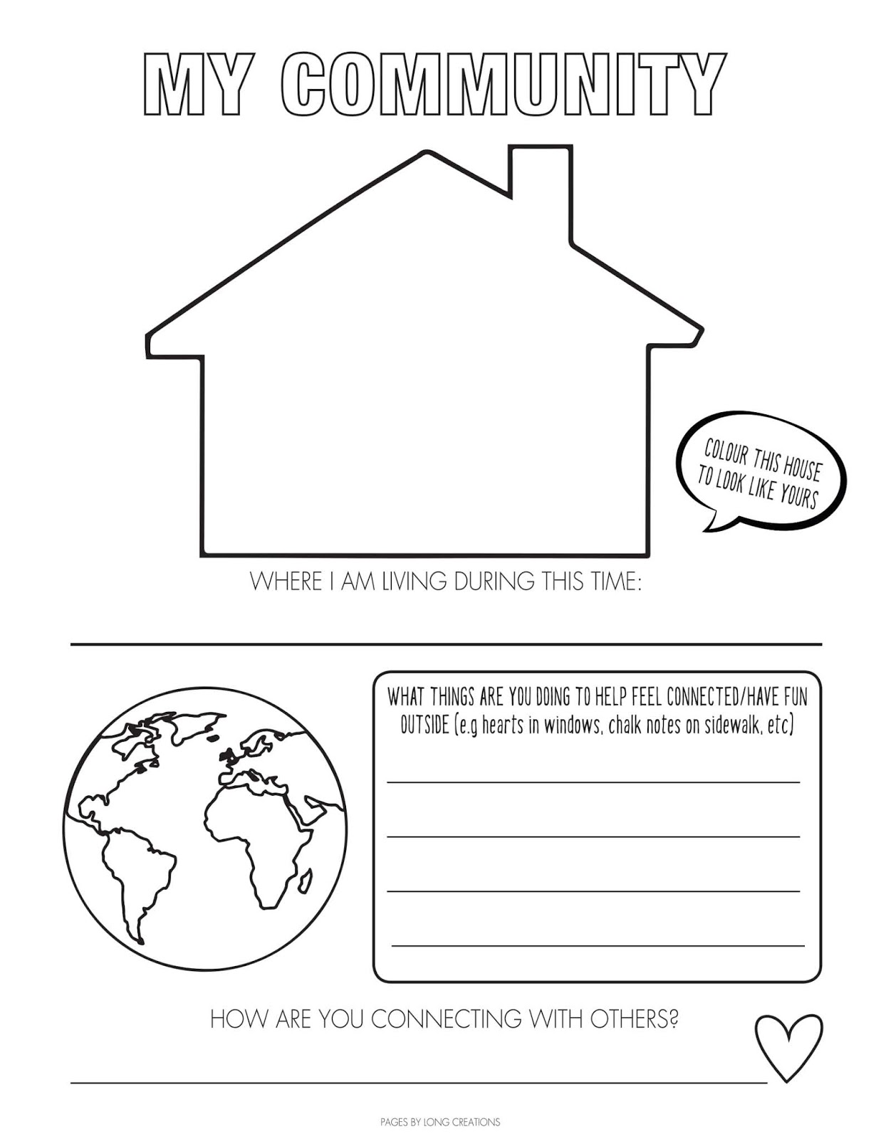 Free Lockdown Time Capsule Colouring Pages Worksheets
