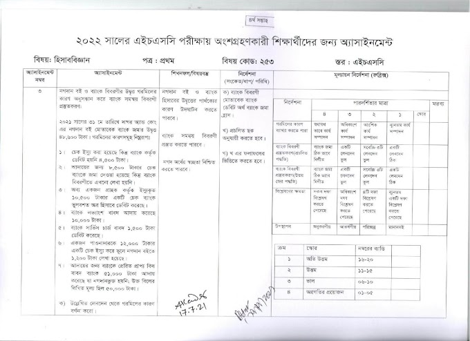HSC Assignment 2022 4th Week Accounting Answer