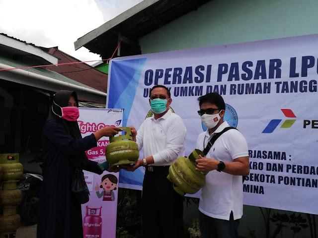 Taktik Pertamina dan Diskumdag Pontianak Operasi Pasar Elpiji Subsidi