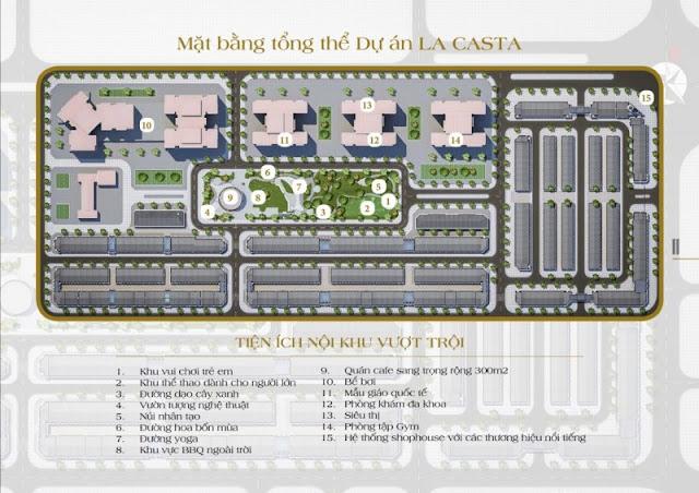 Tiện ích dự án Lacasta Văn Phú