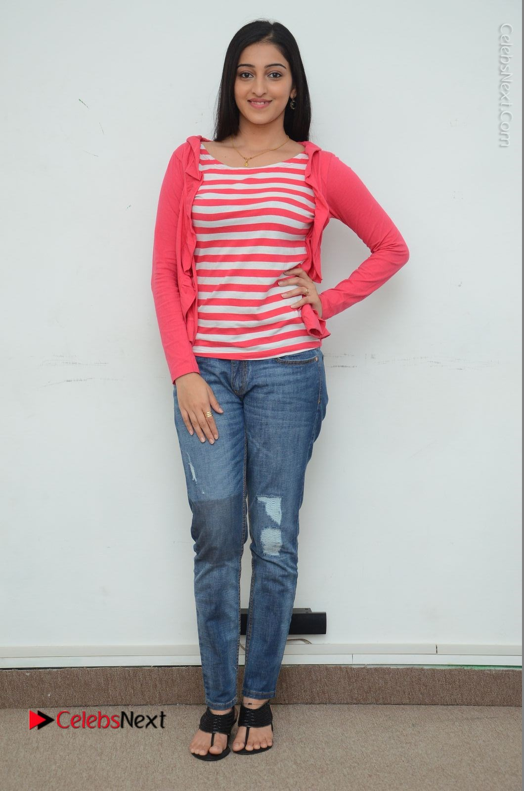 Mouryani Latest Photos in Blue Denim Jeans at Janaki Ramudu Movie Interview