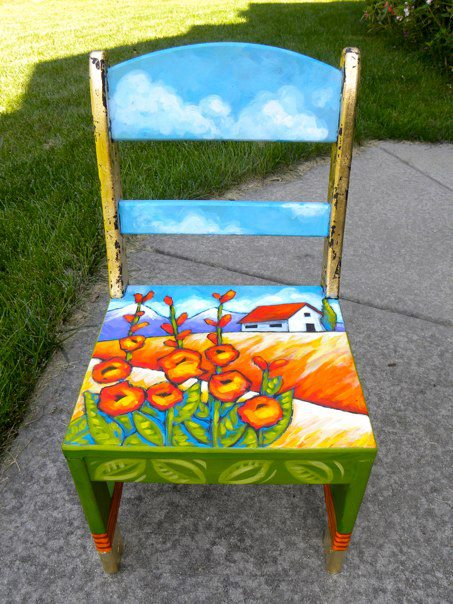 Adrienne Trafford Art Blog Painted Chair For The Rso Auction