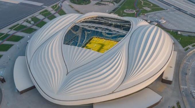 Al Janoub Stadium Al Wakrah fifa cup QATAR design  inspired  sails of traditional dhow boats