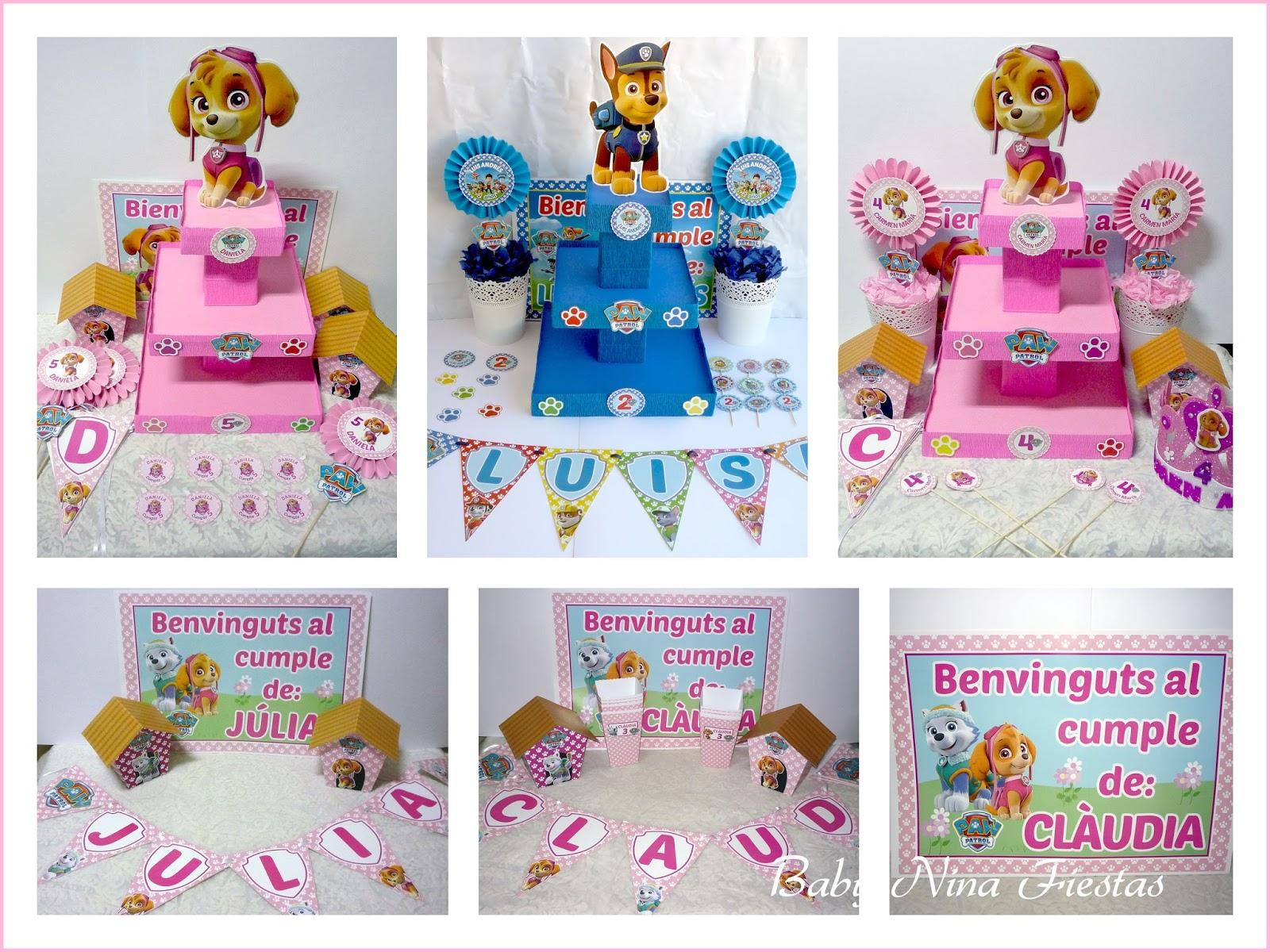 Baby nina fiestas kits cumplea os patrulla canina febrero - Cumpleanos patrulla canina ...