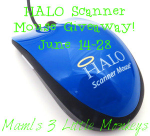 Enter to win a HALO Scanner Mouse. {WW, 18+, 6/28}