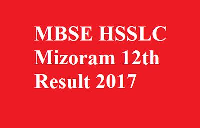 MBSE HSSLC Mizoram 12th Result 2017