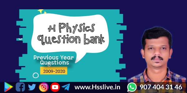 Higher Secondary Plus One Physics Chapterwise Previous Questions