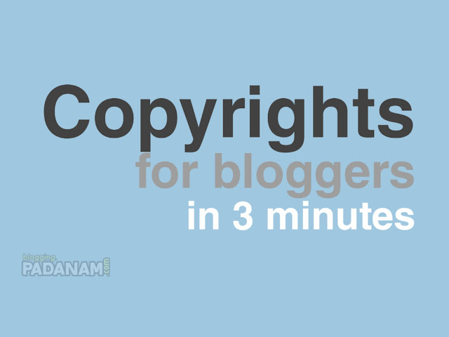 copyrights page for blogspot bloggers