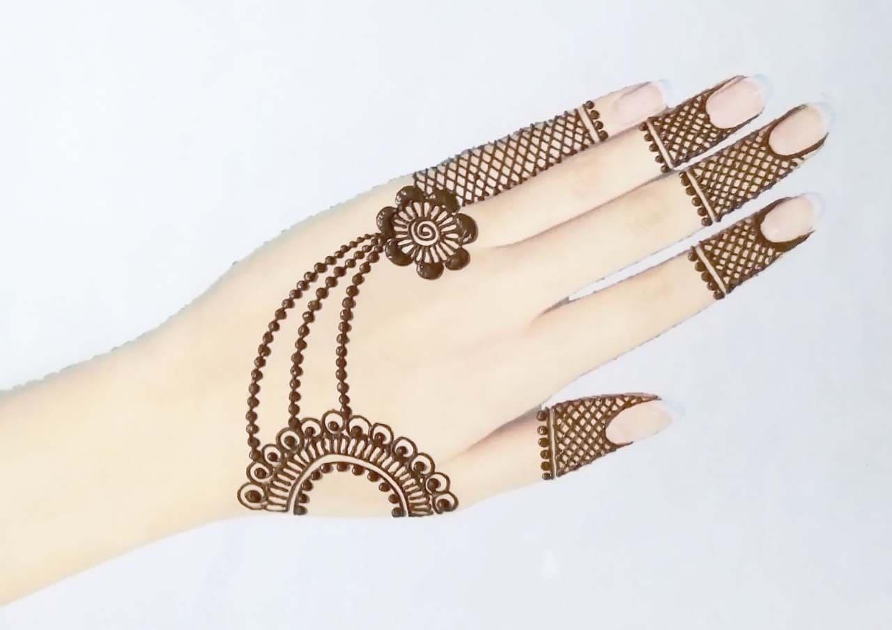 Floral Jewellery Mehndi Design