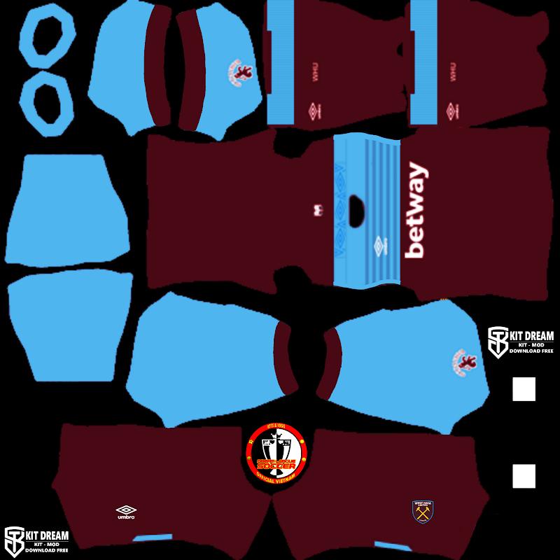 Kits WestHam United - Dream League Soccer 2021