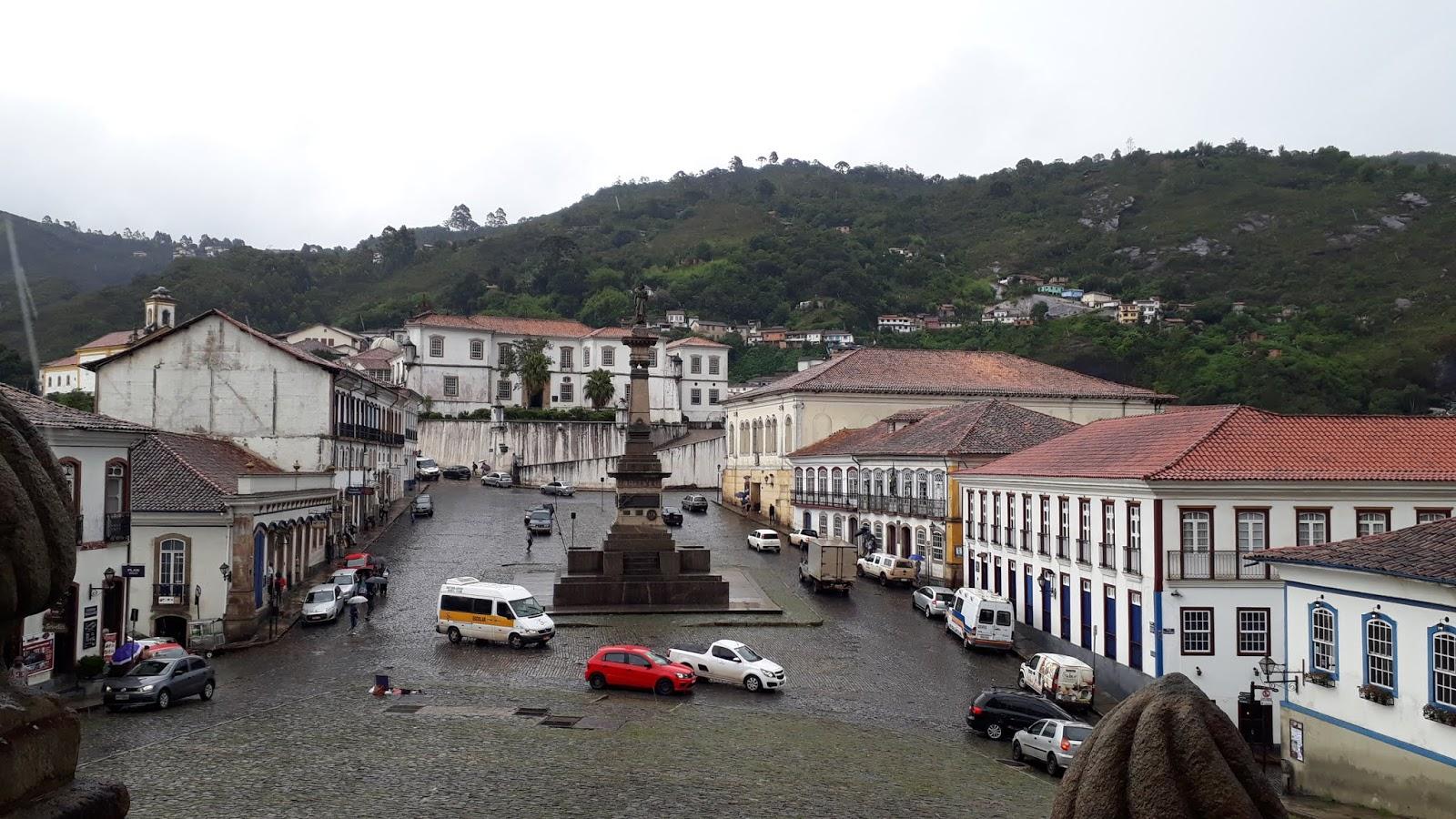 Vista para a cidade de Ouro Preto a partir do Museu da Inconfidência