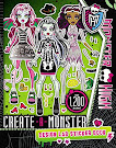 Monster High Create-A-Monster Design Lab Sticker Book Book Item