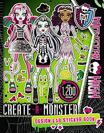 MH Create-A-Monster Design Lab Sticker Book Media