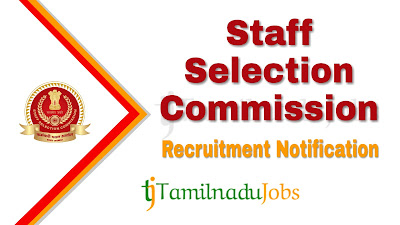 SSC Recruitment notification 2019, govt jobs in india, central govt jobs, govt jobs for 12th pass,