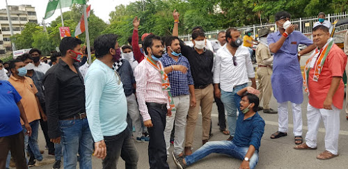 Congress Demonstration On The Demolition Of Elected Governments Across The Country News