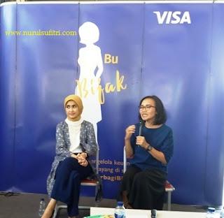 sesi tanya jawab cara mengelola keuangan rumah tangga dan bisnis untuk womenpreneur nurul sufitri blogger visa prita ghozie