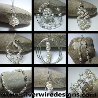 Pearl jewellery department at silver wire designs