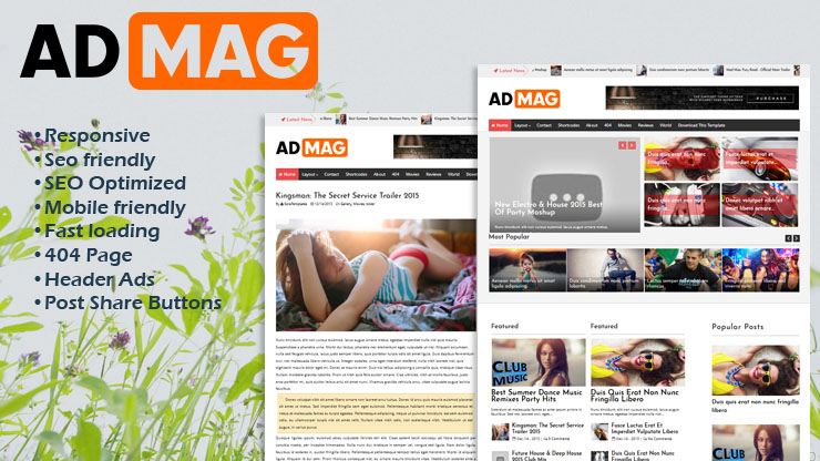 Ad Mag Responsive Blogger Template