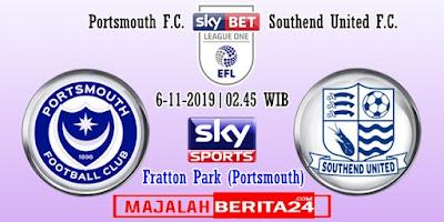 Prediksi Portsmouth vs Southend United — 6 November 2019