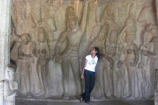 Krishna Mandapam Govardhana Giri Mahabalipuram UNESCO