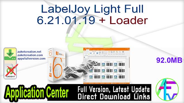 LabelJoy Light Full 6.21.01.19 + Loader