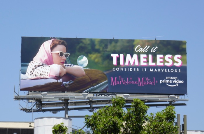 Mrs Maisel season 2 Call it Timeless Emmy FYC billboard