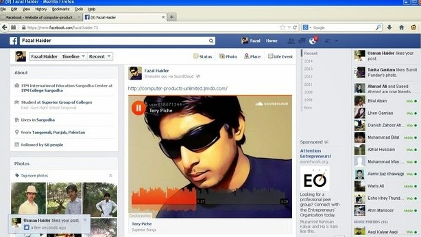 can you upload audio file to facebook
