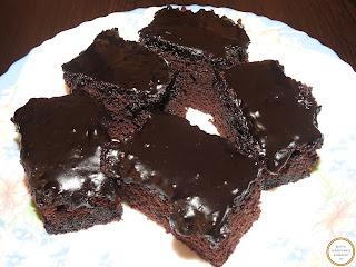 Prajitura negresa cu glazura de ciocolata reteta,