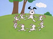 スヌーピーとウサギ
