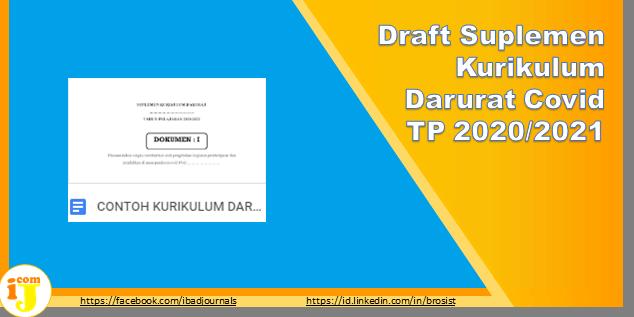 Draft Suplemen Kurikulum Darurat Covid TP 2020/2021
