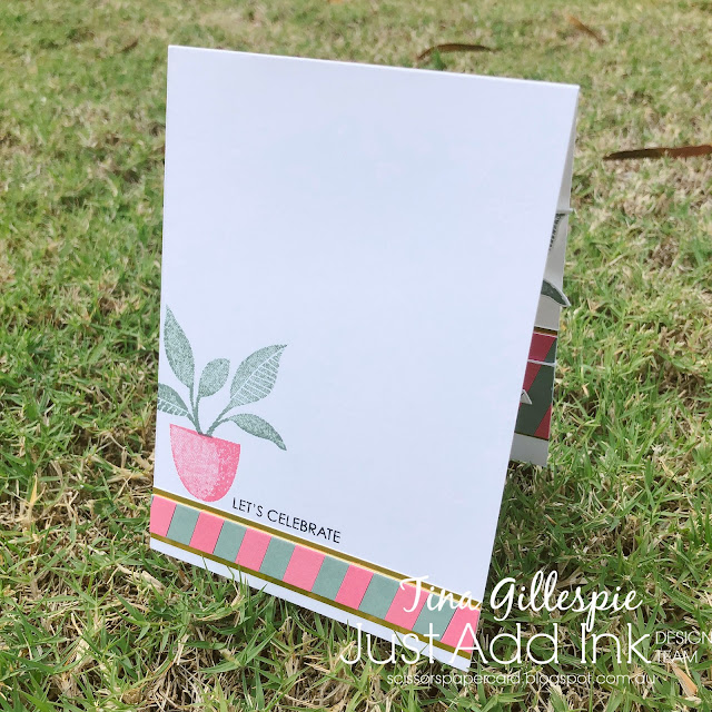 scissorspapercard, Stampin' Up!, Uniquely Creative, Just Add Ink, Plentiful Plants, Sweet Sentiments Builder, Perfect Plants Dies, Peach Dies