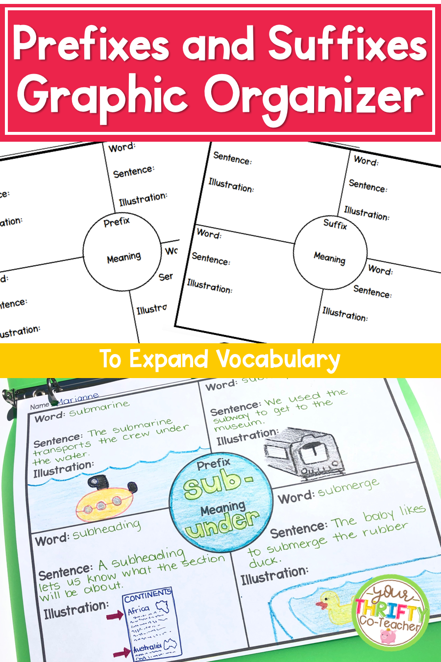 hight resolution of Prefixes and Suffixes Activities to Expand Vocabulary - Your Thrifty  Co-Teacher