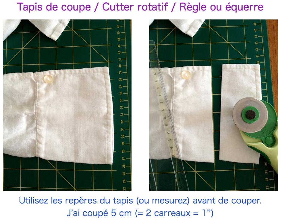 1 relooker customiser une chemise etape 1 modifier les poignets cmoikikou. Black Bedroom Furniture Sets. Home Design Ideas
